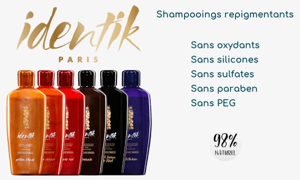 Shampooings repigmentants Identik